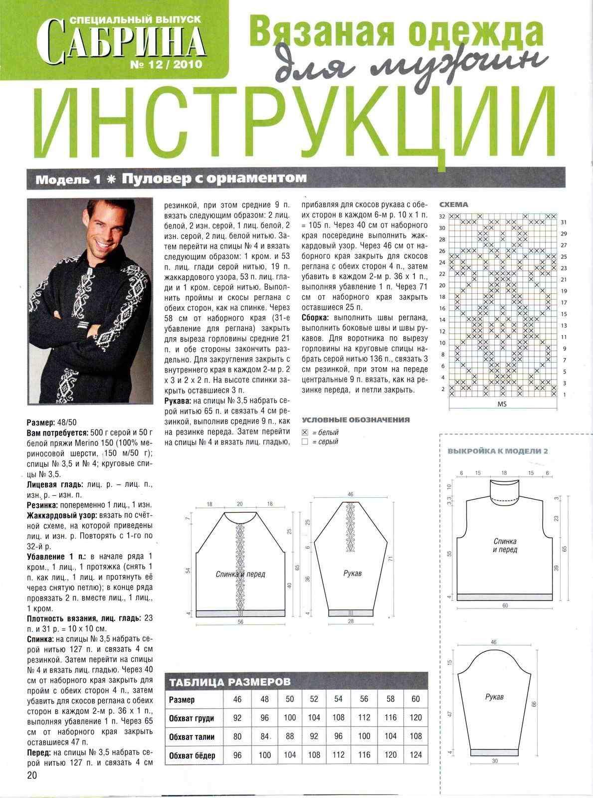 Для мужчин вязание : 25 моделей со схемами, описанием и видео мк для
