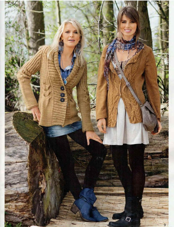 Вязание кофт на осень для женщин