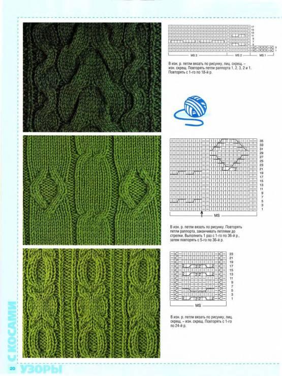 Вязание спицами со схемами и описанием