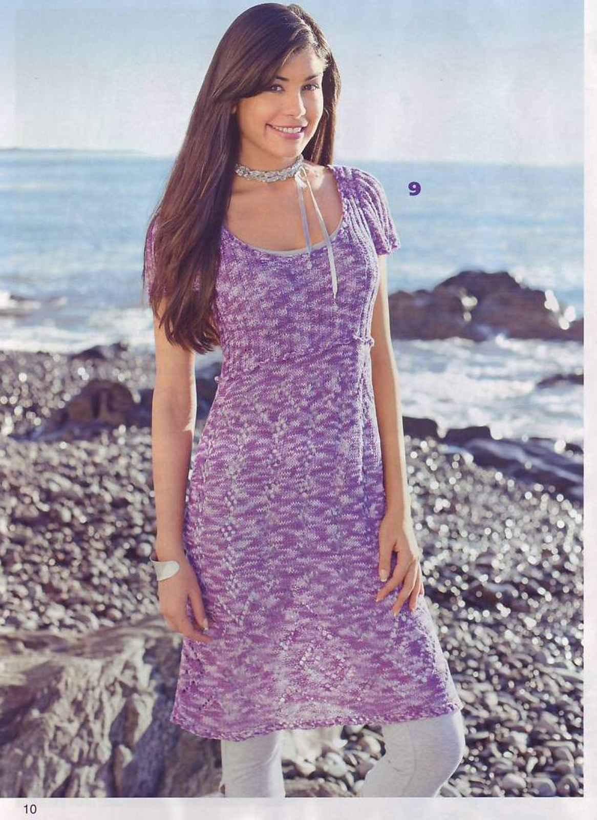 Вязание платья из меланжа